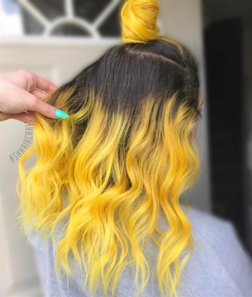 Celeb Luxury Viral Yellow Ash Hair